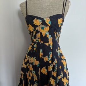 Free People- floral dress size 4